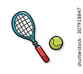 tennis doodle | Shutterstock .eps vector #307918847