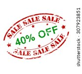 rubber stamp with text sale...   Shutterstock .eps vector #307923851