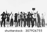 business people new york... | Shutterstock . vector #307926755