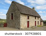 Small photo of traditional cottage house with maslin roof in Northumberland, UK