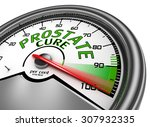 prostate cure conceptual meter... | Shutterstock . vector #307932335