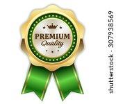 gold premium quality rosette... | Shutterstock .eps vector #307938569