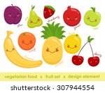 vector image of vegetarian food.... | Shutterstock .eps vector #307944554