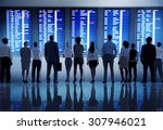 business people airport... | Shutterstock . vector #307946021