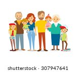 family portrait  | Shutterstock .eps vector #307947641
