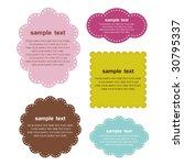 design retro frames | Shutterstock .eps vector #30795337