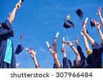 high school students graduates... | Shutterstock . vector #307966484