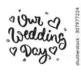 lettering poster. hand drawn... | Shutterstock .eps vector #307977224