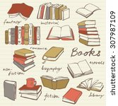 doodle book collection   vector ...   Shutterstock .eps vector #307987109