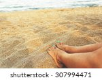 relax at the beach   close up... | Shutterstock . vector #307994471