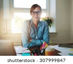 successful business woman... | Shutterstock . vector #307999847