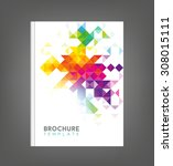 brochure template  book cover ... | Shutterstock .eps vector #308015111