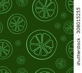 seamless texture with green...   Shutterstock .eps vector #308015255