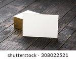 thick white cotton paper... | Shutterstock . vector #308022521
