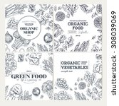 healthy food frames. banner... | Shutterstock .eps vector #308039069