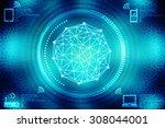 2d business network background | Shutterstock . vector #308044001
