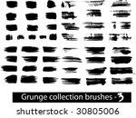 grunge brushes line | Shutterstock .eps vector #30805006