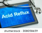 tablet with the diagnosis acid... | Shutterstock . vector #308058659