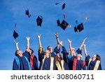 high school students graduates... | Shutterstock . vector #308060711