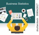business statistics concept... | Shutterstock .eps vector #308062817