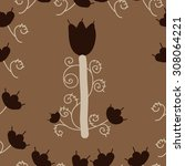 seamless  floral pattern ... | Shutterstock . vector #308064221
