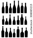 bottles silhouette | Shutterstock .eps vector #308085215