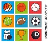 sports digital design  vector... | Shutterstock .eps vector #308090549