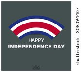 happy independence day of costa ...   Shutterstock .eps vector #308094407