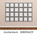 photo frame on the wall idea...   Shutterstock . vector #308096429