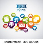 social media design  vector... | Shutterstock .eps vector #308100905