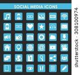 social media design  vector... | Shutterstock .eps vector #308100974