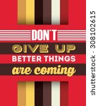 retro poster design  vector... | Shutterstock .eps vector #308102615