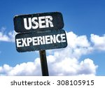 user experience sign with sky...