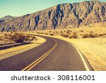 route 66  death valley | Shutterstock . vector #308116001