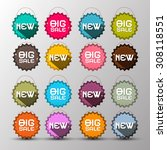 colorful vector new   big sale... | Shutterstock .eps vector #308118551