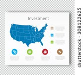 infographic investment usa map...