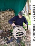 Small photo of Basket weaver at Lowther country show Penrith Cumbria England 15.8.15