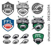 american football fantasy... | Shutterstock .eps vector #308126354