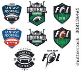 american football fantasy... | Shutterstock .eps vector #308126465