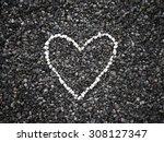 love background  the heart of... | Shutterstock . vector #308127347