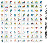 graph icons set   isolated on... | Shutterstock .eps vector #308127971