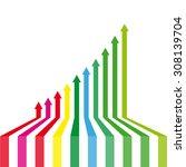 arrows success | Shutterstock .eps vector #308139704