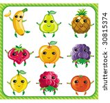 cartoon fruits.  to see similar ... | Shutterstock .eps vector #30815374