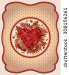 Autumn Card Vintage Style Vector