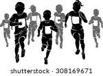 kids marathon | Shutterstock .eps vector #308169671