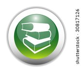 glossy books sign button | Shutterstock .eps vector #30817126