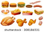 fastfood in various types... | Shutterstock .eps vector #308186531