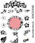 hawaii floral design black 'n... | Shutterstock .eps vector #30820588