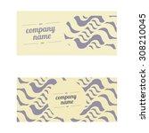 vintage creative cards  hipster ...   Shutterstock .eps vector #308210045