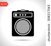 guitar amplifier icon   Shutterstock .eps vector #308217065